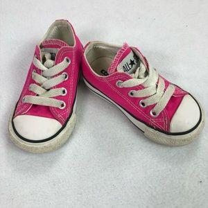 Pink Converse All Star Loe Top Shoes toddler Sz 5